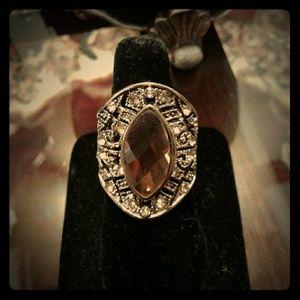Beautiful gold tone Amber Stone